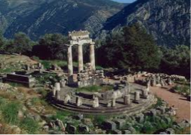 Greek ruined temple